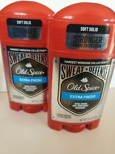 Old Spice Anti-Perspirant 2.6 Ounce Extra Fresh Soft Solid (76ml) (2 Pack)