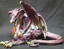 "Purple RECLINING DRAGON  Jeweled    H8.5"" x W10.75"""