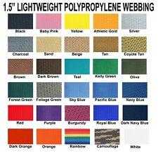 "1.5 Inch Polypropylene Webbing Light Weight 1.5"" Strap 10 Yards"