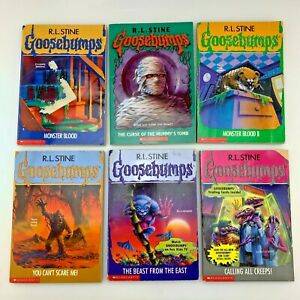 Lot Of 6 Goosebumps Books | Monsters, Mummies, Beasts and Creeps | Random Years