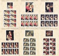 More details for solomon isl mnh sheets 2004 christmas paintings sg 1081-1086