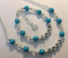 Frozen Elsa inspired girls personalised bracelet and necklace set party gift!