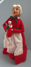 Byers Choice Christmas Carolers Lady in Red Dress with Stockings and Toys