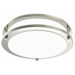 Facon 120V LED Flush Mount Ceiling Light Fixture Dimmable Brushed Nickel Finish