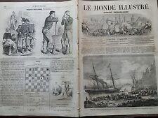 LE MONDE ILLUSTRE 1862 N 283  - 300 PELERINS REVENANT DE LA MECQUE A MARSEILLE