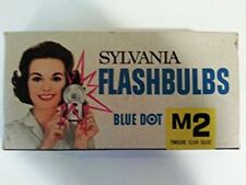 Sylvania Blue Dot Flashbulbs M2 3 boxes of 12  Clear Bulbs Price reduced !