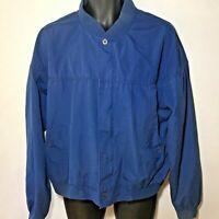 Vintage Mens Size XL Baracuta Harrington Jacket Blue Bomber Rocky Trail