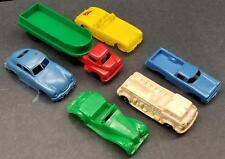 "Soft Plastic Toy Vehicle Lot 4""-6"" Porsche/MG/Truck/Trailer/El Camino Renwal"