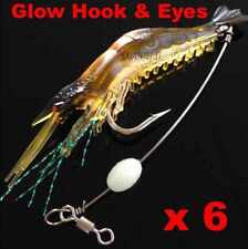 6 Soft Plastic Fishing Lures Tackle Prawn Shrimp Flathead Bream Cod Bait Lure