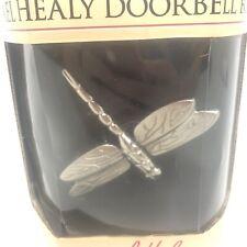 Michael Healy 'dragonfly in flight' door Knocker Door Bell Brushed nickel