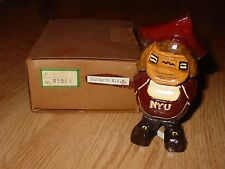 Vintage Anri Nyu New York University Carved Wood Mascot Figure w/Box Italy