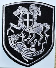 ST.GEORGE KILL DRAGON SHIELD CROSS ORTHODOX PENDANT Crusaders IRON ON PATCH