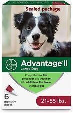 New listing *Sale*Advantage Ii Large Dog Flea Treatment for Large Dogs 21-55 Pounds