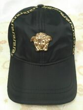New Versace Black Baseball Hat Adjustable Buckle Casual Style Unisex