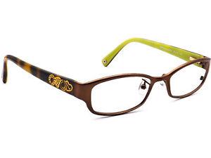 Coach Eyeglasses HC5007 Willow 9046 Satin Brown Rectangular Frame 50[]16 135