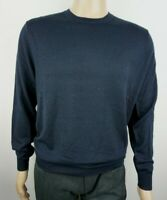 Men`s Jumper Crew Neck Wool Blend Size S Navy Pullover Sweater - CHRISTIAN BERG