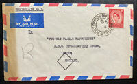 1954 British Field Post Office Hong Kong Airmail Cover To London England