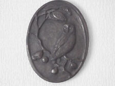 Bronze Owl Sculpture Wall-Hung Plaque Rare Irish Cold-Cast from Kathlean Smyth