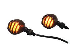Crinkle Matt Black Steel LED Indicators Fit Harley Bobber Sportster Softail