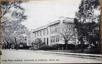 Davis, CA 1930s Postcard: Classroom Building, University of California