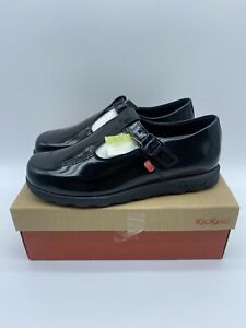 Women's Kickers Fragma T Bar Buckle Patent Leather Shoes