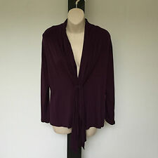 'MY SIZE' BNWT SIZE 'XS' PURPLE LONG SLEEVE TOP WITH GATHERED FRONT