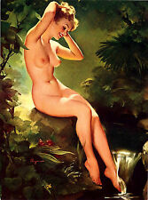 Vintage Erotica CALENDAR 2018 # 12 pages # Elvgren Pinup Nude Sexy Girl Topless