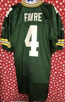 Reebok Men's NFL On Field Green Bay Packers Brett Favre #4 Jersey Sz 54  A557