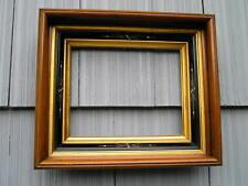 Antique Aesthetic Eastlake Victorian Carved Ebony~Gold Liner~Picture Frame~8~10