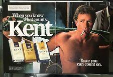 Kent Cigarettes Vintage 1983 Print Ad