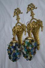 Paire d'appliques en bronze et pâte de verre NOUVEAU MODELE
