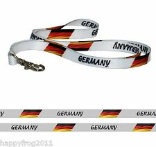Satin GERMANY FLAG LANYARD Neck Strap for Mobile Ipod ID Conference Pass Badge