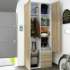 Compass Wardrobe with 2 Doors and 3 Drawers - Oak