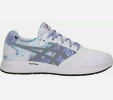 Asics Patriot 10 Impresión Para Mujer Zapatos Tenis Correr Sz.9 Blanco/Violeta