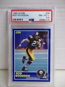 1989 Score Rod Woodson Rookie PSA NM-MT+ 8.5 #78 NFL HOF Pittsburgh Steelers