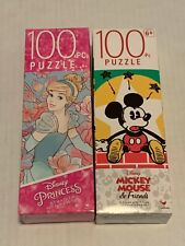 Disney Princess Mickey Mouse & Friends Puzzle 100 Piece Lot Of 2 NEW