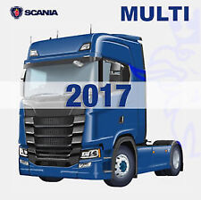 Scania Multi EPC Complete Catalog v16 10.2017 for Cars and Busses on DVD