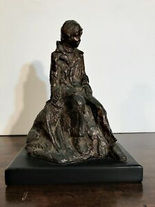 1940s Vintage Bronze Color Finished Figurine