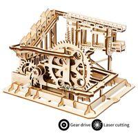 Robotime DIY Roller Coaster Marble Run Building Set Assembly Model Construction