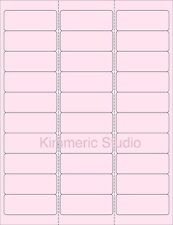 """6 SHEETS 1""""x2-5/8  BLANK PINK STICKERS LABEL ADDRESS. MANY USES. PRETTY ~ CRAFTS"""