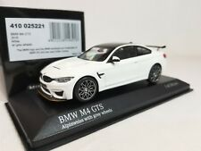 1:43 Minichamps BMW M4 GTS Coupe F82 2016 Twin Turbo I6 Alpine White Grey Wheels