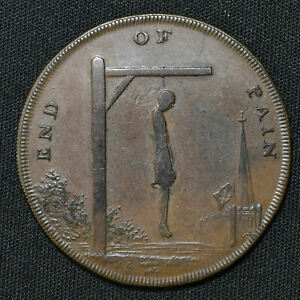 1793 Middlesex D&H 833,End Of Pain, Halfpenny Conder Token