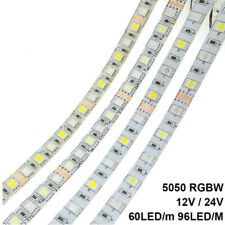 LED strip 5050 RGBW DC12V / DC24V Flexible LED light RGB+white/RGB+warm white 5M