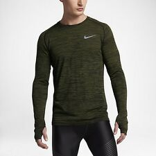 Ret$90 NIKE DRY FIT KNIT Men's Long Sleeve Running Top SZ S 833565 011