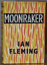 1ST/1ST UK ED W.ORG STRIKING VIBRANT NEAR FINE DUST JACKET~MOONRAKER~IAN FLEMING