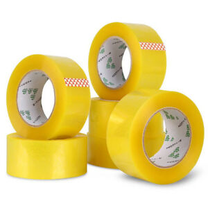 6cm Width 1cm Thick Clear Packing Packaging Carton Box Sealing Adhesive Tape
