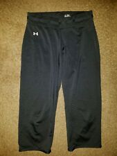 UNDER ARMOUR women's small cropped Yoga pants fitness work out casual black EUC