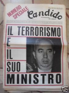 CANDIDO IL TERRORISMO E IL SUO MINISTRO 29 AGOSTO 1974
