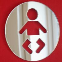 Baby Changing Sign Mirrors (3mm Acrylic Mirror, Several Sizes Available)