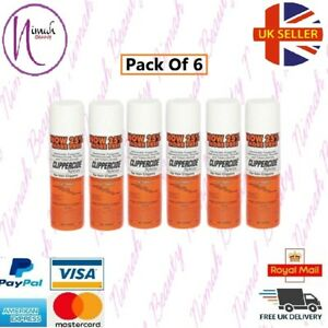 6 X Clippercide Spray - For Hair Clippers 5 in 1 Formula (15 Oz.) 25% extra free